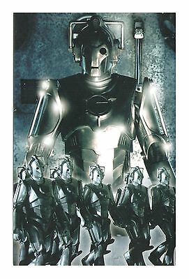 Doctor Who Rise Of The Cybermen Time And Space Famous Sci-Fi Men Dr Who Postcard