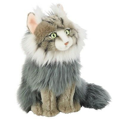 FAO Schwarz 12 inch Plush Maine Coon Cat - Gray