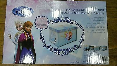 "Disney Frozen Elsa & Anna 24"" Foldable Storage Ottoman Bench Toy Box"