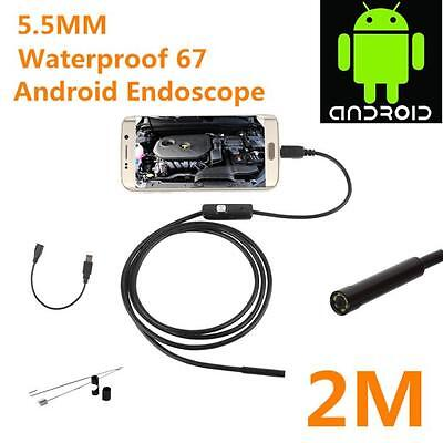 5.5mm Endoscope Waterproof Borescope Inspection Camera 6 LED for Andorid 2017
