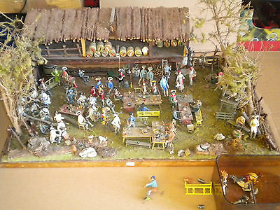 Vintage Historex Diorama French Napoleonic soldiers Museum 65 x 36 x 23cms