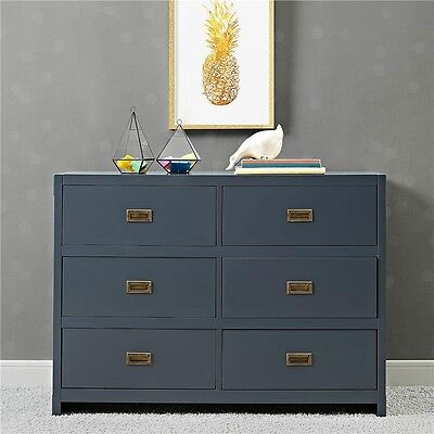 Baby Relax Miles 6-Drawer Dresser - Blue