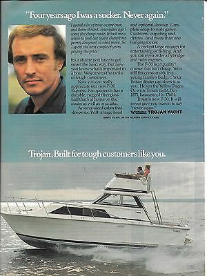 1977 Trojan Yacht Color Ad- Nice Photo of F-30 Express