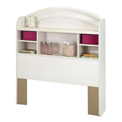 South Shore Country Poetry Twin Bookcase Headboard (39'') - White Wash
