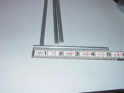 "Lot Of Four Round Female 4/40 X 4-7/8"" X 1/4"" O D Aluminum Stand Off"