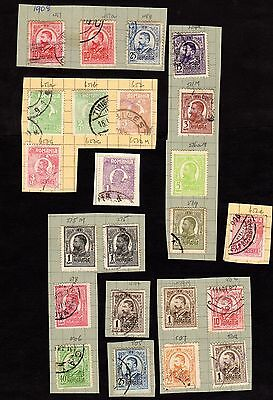 Stamps ~ ROMANIA Roumania ON PIECE ~ CLASSICS 1800s