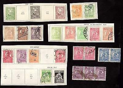 Stamps ~ ROMANIA Roumania ON PIECE Inc. PAIRS~ CLASSICS Early UNSORTED