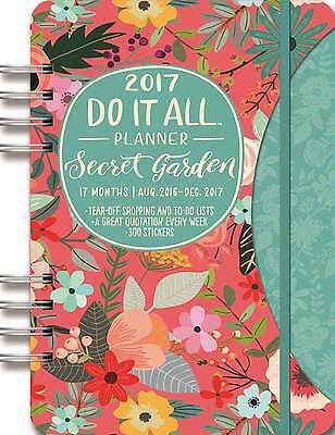 Do It All Secret Garden A5 Planner Diary 2016-2017 Family Planner Diaries Weekly
