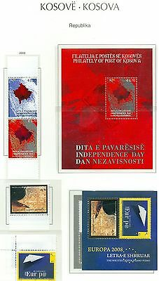 Kosovo 2008 Stamp Year Set Complete With Souvenir Sheets Mnh Very Fine