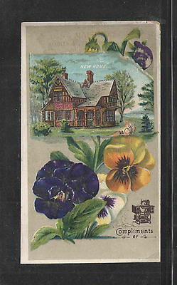 1880s NEW HOME SEWING MACHINE  VICTORIAN TRADE CARD