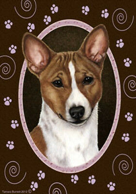 Large Indoor/Outdoor Paws Flag - Basenji 17172
