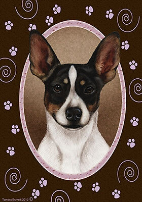 Large Indoor/Outdoor Paws Flag - Tri Rat Terrier 17130