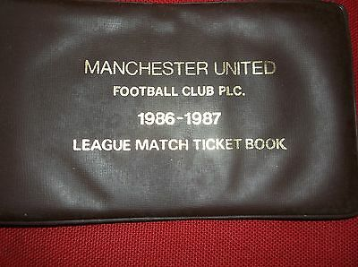 Manchester United Used League Match Ticket Book 1986-87