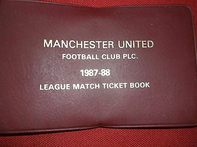 Manchester United Used League Match Ticket Book 1987-88