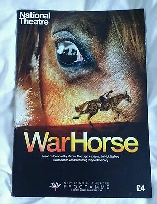 WAR HORSE Theatre Programme -National Theatre New London Theatre in 2013