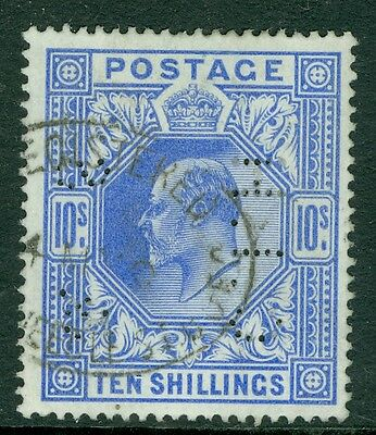 SG 319 10/- Blue a very fine used perfined example