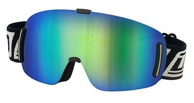 Dirty Dog Blizzard 54141 Frameless Snow Skiing Goggles Green Blue Fusion Mirror