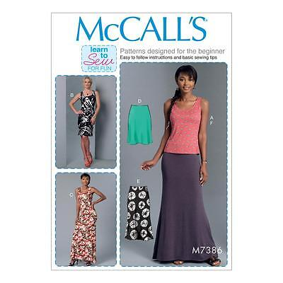 MCCALL\'S SEWING PATTERN MISSES\' LEARN TO SEW FOR FUN TOP DRESSES ...