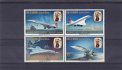 1976 Bahrain Concorde First Flight To London Block Ofstamps Mint U/m  Sg232-4