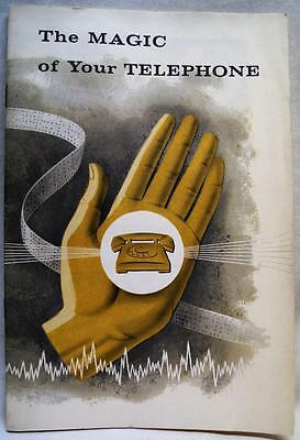 Bell Telephone System The Magig Of Your Telephone Souvenir Brochure 1960 Vintage