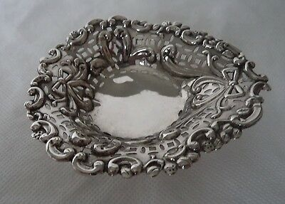Antique Victorian 1894 Solid / Sterling Silver Bowl / Dish