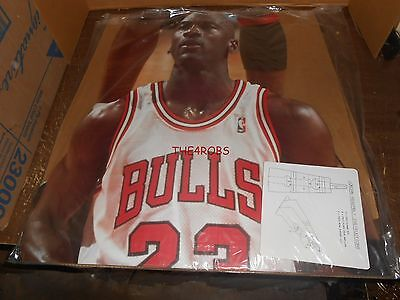 Michael Jordan Upper Deck Life Size Cardboard Stand Up Never Displayed