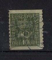 SWEDEN , 1920, SG106A TY22 40 ore GREEN, USED....