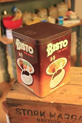 Vintage Large Bisto Gravy Catering Pack Storage Tin – Great Size & Condition!