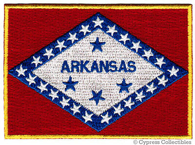 ARKANSAS STATE FLAG embroidered iron-on PATCH EMBLEM applique emblem sleeve