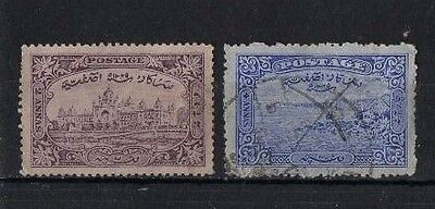 HYDERABAD , 1931-47, SG44/45 2a VIOLET AND 4a ULTRAMARINE, USED....