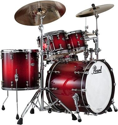 Pearl Reference Pure 4pc Drum Shell Pack - Scarlet Sparkle Burst