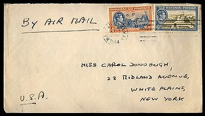 1944 Bahamas Nassau To United States 2 Color Fr Cover