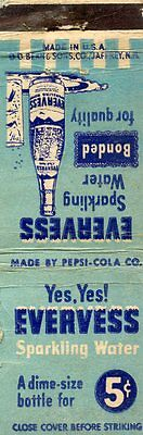 Everness Sparkling Water, Pepsi Cola Company Matchbook