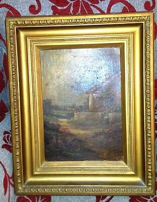 Original oil painting. Old. In lovely gesso frame