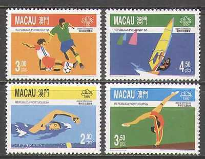Macau 1996 Sports/Olympics/Football 4v set (n22869)