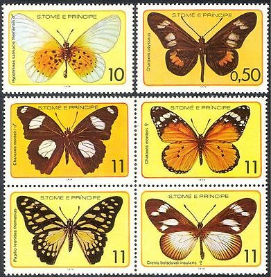 Sao Tome 1979 Butterflies/Insects/Nature/Butterfly/Conservation 6v set (s4340a)