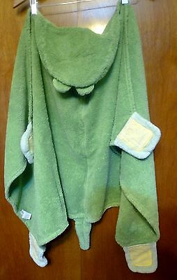 ~Infant Toddler Green Alligator Bath Swimming Towel with Hood POTTERY BARN