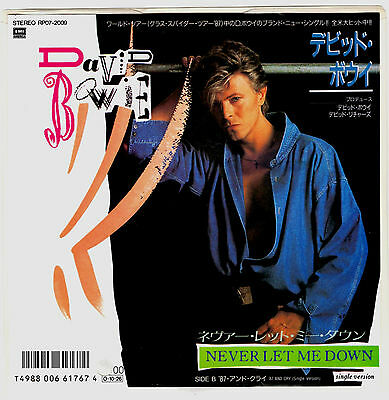 DAVID BOWIE - NEVER LET ME DOWN (Single Version) - VERY RARE! JAPAN PROMO 45' PS