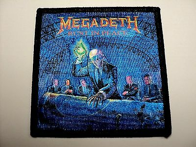 Megadeth  Rust In Peace   Woven Patch Iron Or Sew