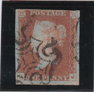 1841 1d. red-brown plate 25 (GJ)  - fine used with Maltese Cross cancel.