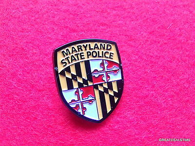 Maryland state Police Dept Flag Patch Badge,Officer Mini Metal TROOPER PIN, MD