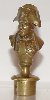SP06 -  Brass antique seal bust of Napoleon. After David D'Angers. 98mm high