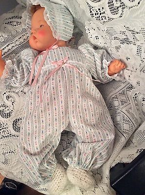 """Doll Clothes for 19""""/20"""" Large Thumbelina """"Flannel Romper Set"""" by Maureen"""