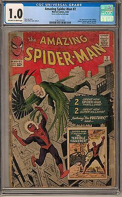 Amazing Spider-Man #2 CGC 1.0 (OW-W) 1st Vulture & Terrible Tinkerer