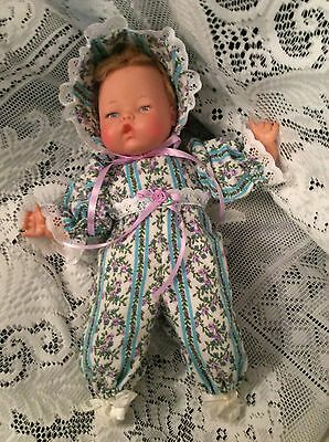 """Doll Clothes for 14"""" Tiny Thumbelina """"Sweet Flannel Romper Set"""" by Maureen"""