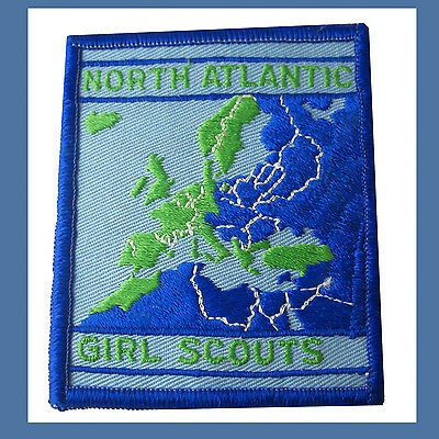 PATCH North Atlantic Region Girl Scouts Overseas International RARE USAGSO-NA