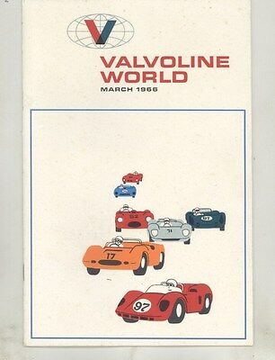 1966 Valvoline Race Car Brochure Elva Courier BMW Nickey Chevrolet Opert ww5139