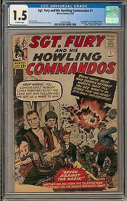 Sgt. Fury and his Howling Commandos #1 CGC 1.5 (OW)