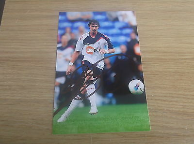 Bolton Wanderers fc Chris Eagles signed 6x4 action photo