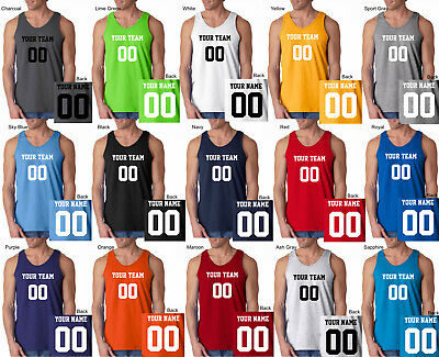 992424125 CUSTOM Tank Top JERSEY Personalized ANY COLOR Name Number Team Basketball  S-3XL